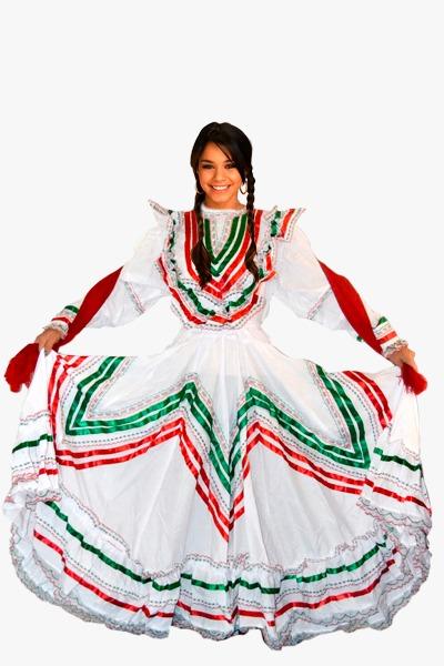 Vestido Jalisco Tricolor
