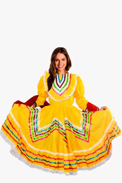 Vestido Jalisco Amarillo