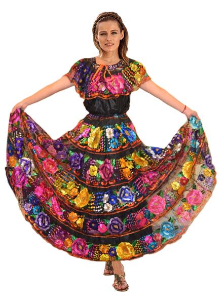 Vestido Chiapas Disfraces Mancera